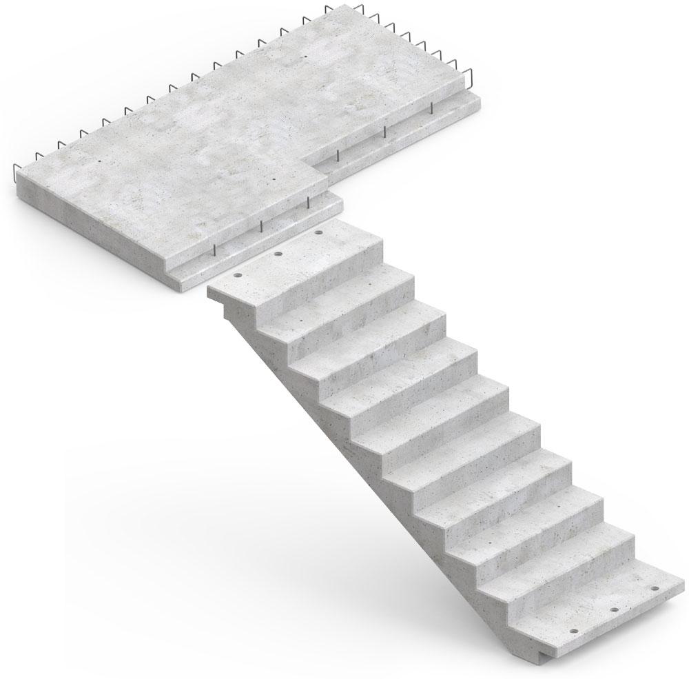 prefabrykowane żelbetowe biegi schodowe