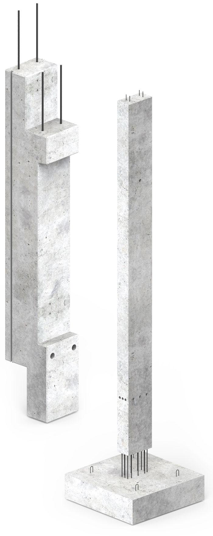 fundamenty i słupy prefabrykowane